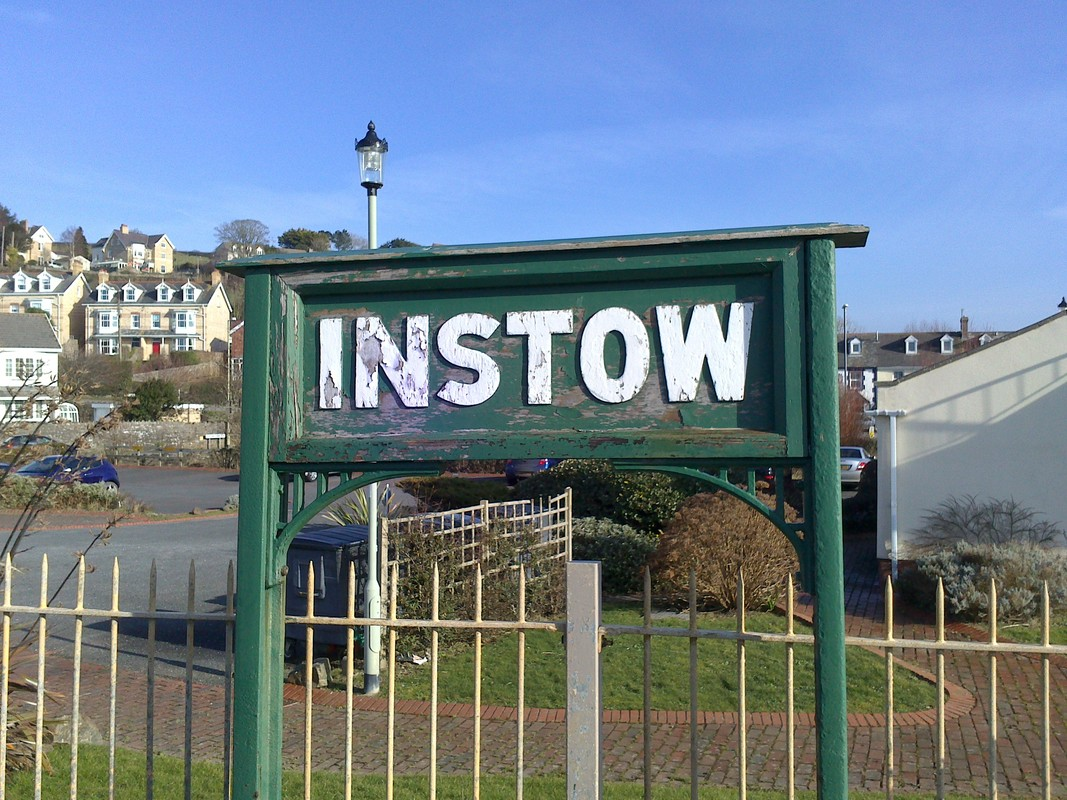 The platform at Instow