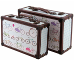 image of 2 cases with bicycles
